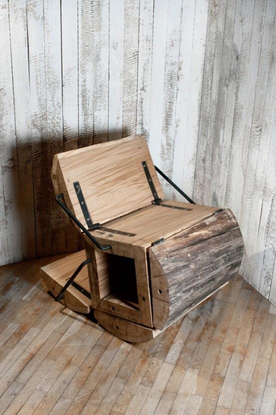 rustikální židle