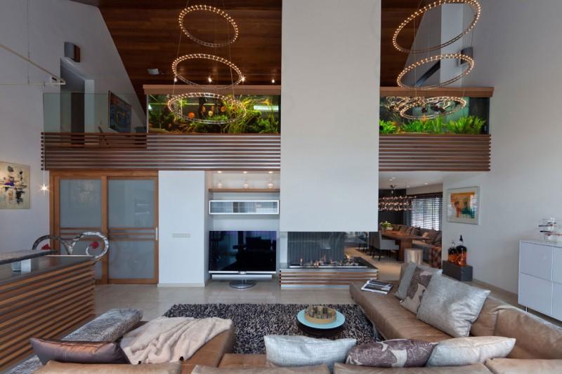 akvárium v interiéru