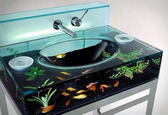 umyvadlo akvárium