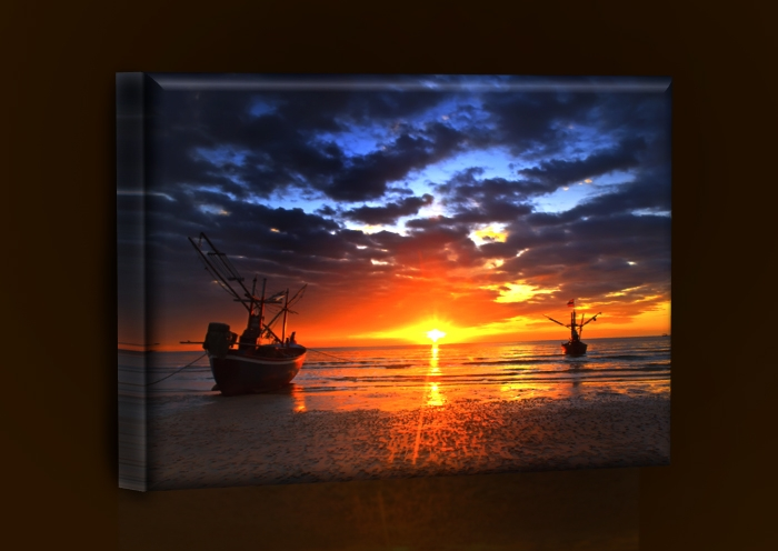 LED obraz západ slunce