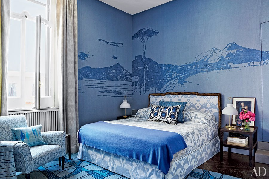 Magical-blue-bedroom-with-custom-made-tapestry